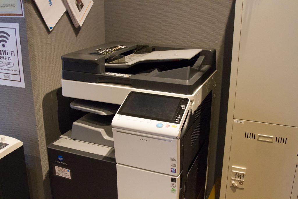 プリンターも無料で1日100枚まで印刷することが出来ます。