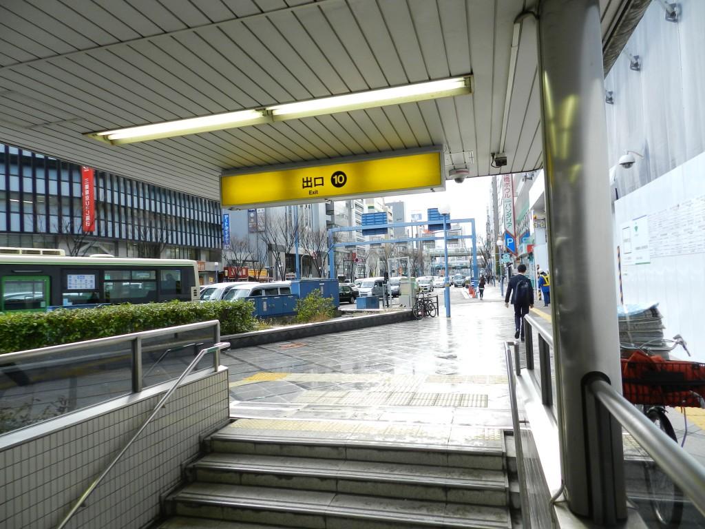 地下鉄西梅田(東西線北新地駅)10番出口