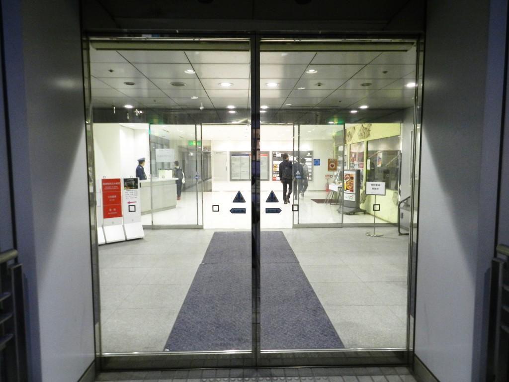 テレコムセンターの入口