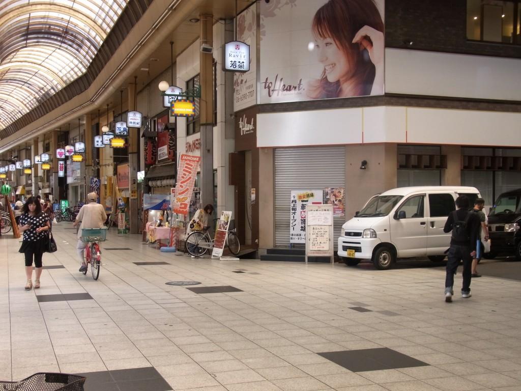 十三駅の商店街の若菜