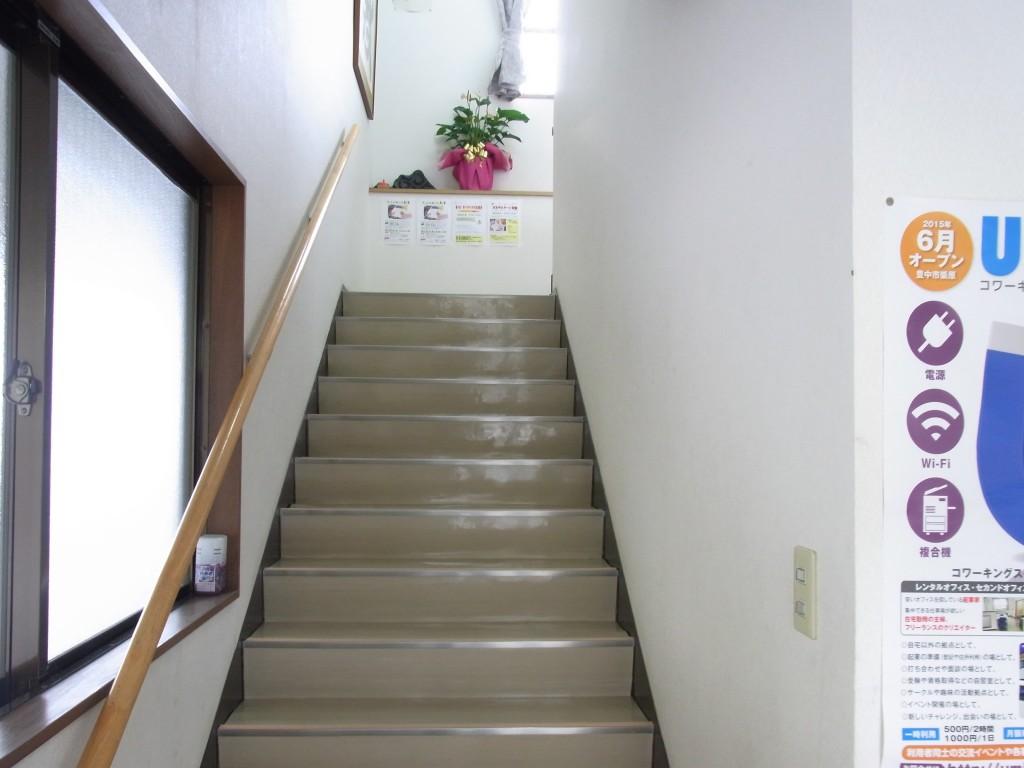 コワーキングスペースUmidassの階段