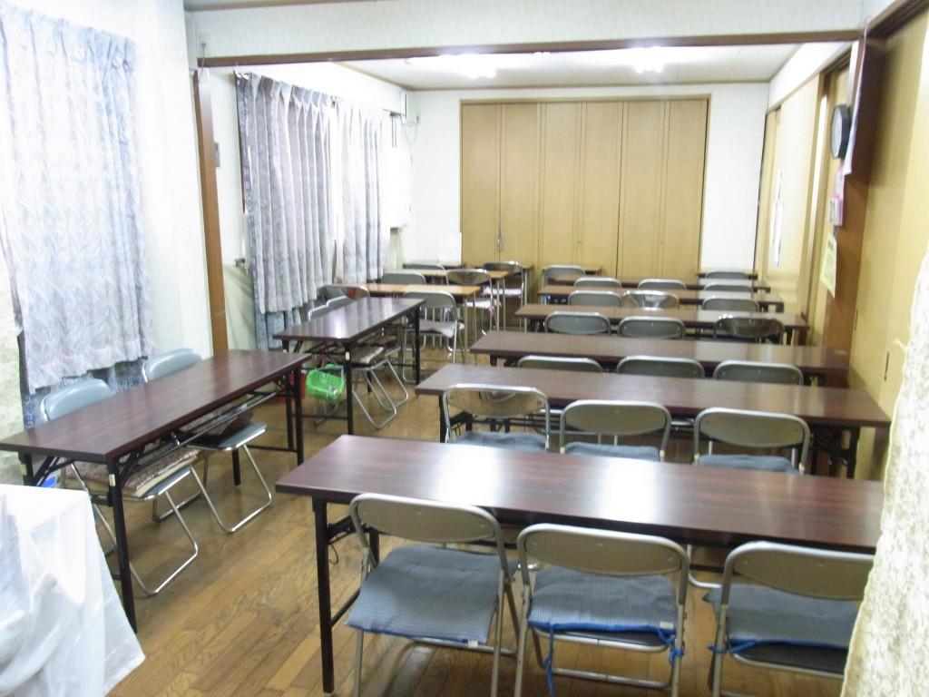 コワーキングスペースUmidassの教室風エリア