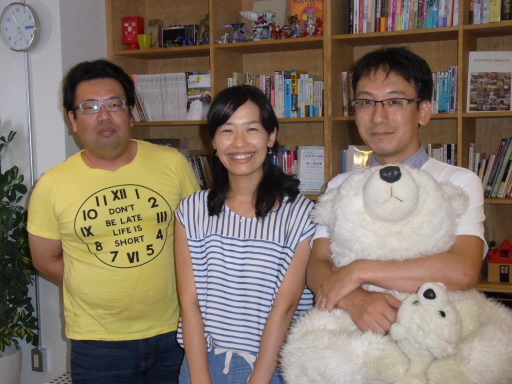 JUSO Coworkingの運営者深沢 周代さん、深沢 幸治郎さん、金子さん