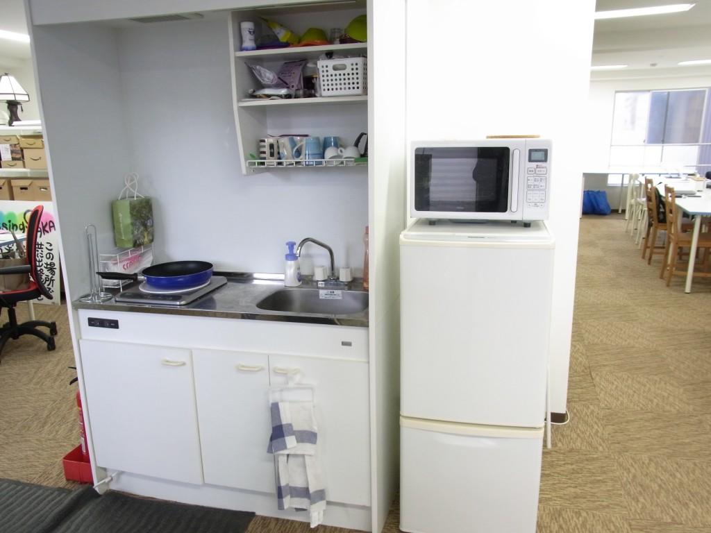 新大阪Crossingのキッチン