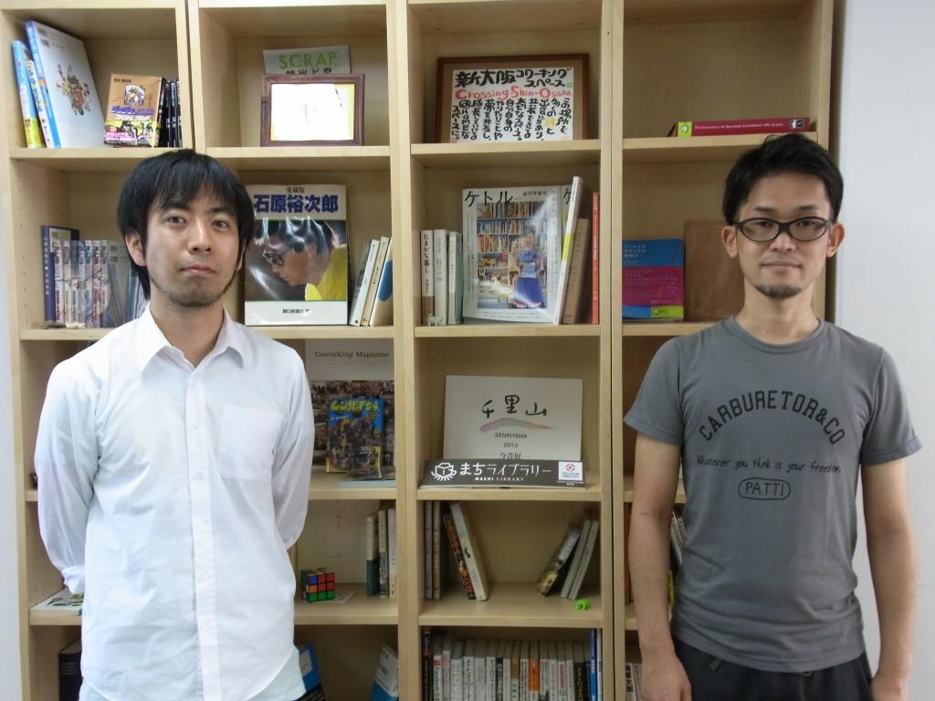 新大阪コワーキングスペース Crossingの徳永さんと高橋さん