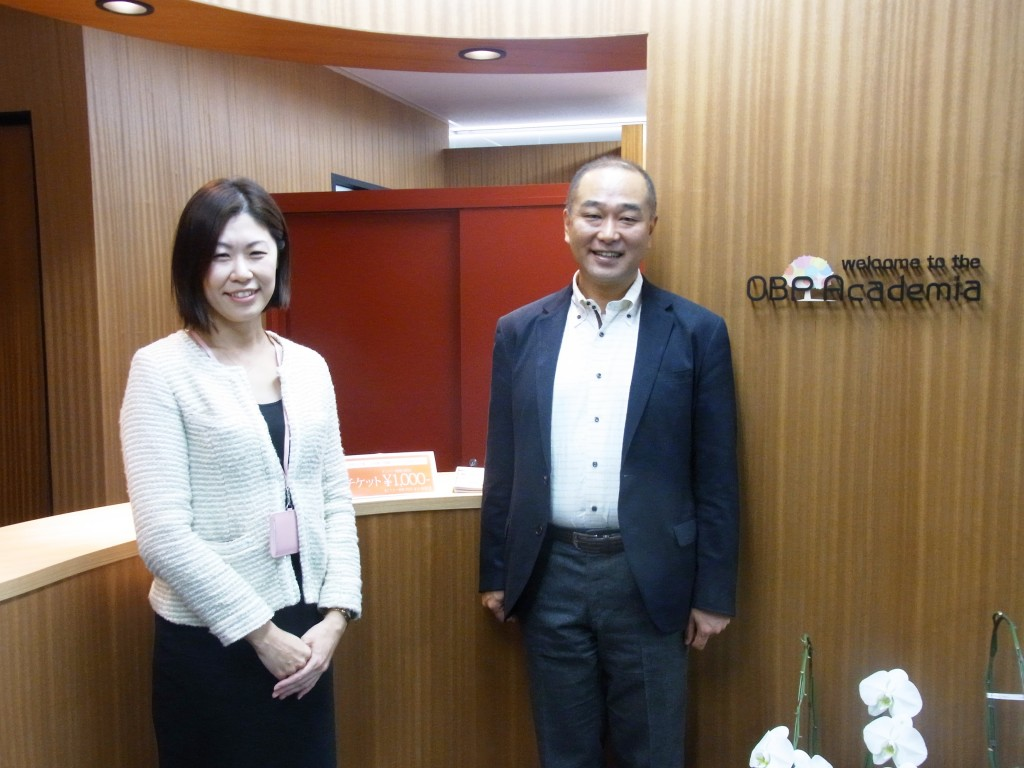 OBPアカデミアの社長の吉川聡さんとマネージャーの横山 美由紀さん