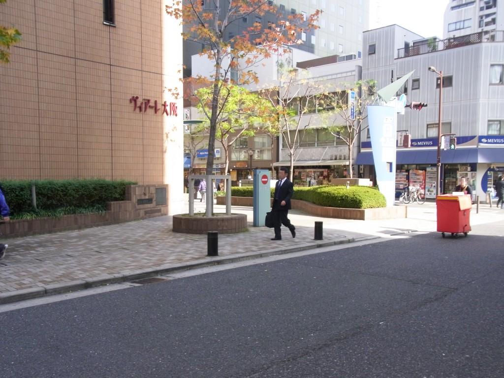 ヴィアーレ大阪が目印