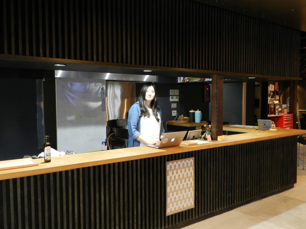 MTRL KYOTOのカウンター
