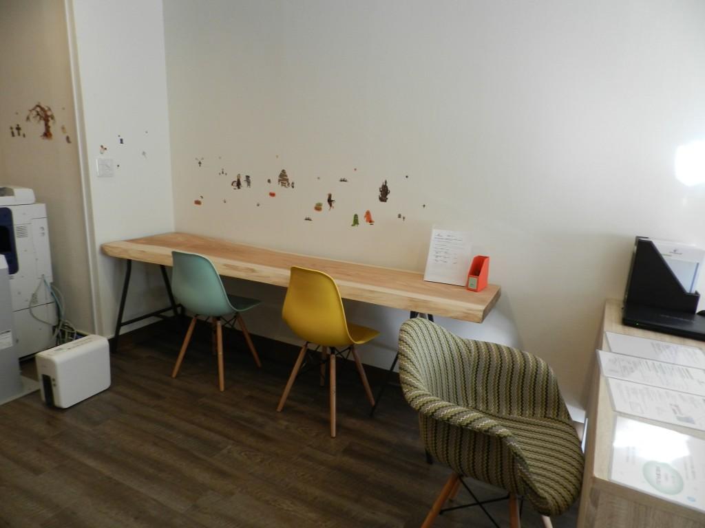 受付横の作業スペース