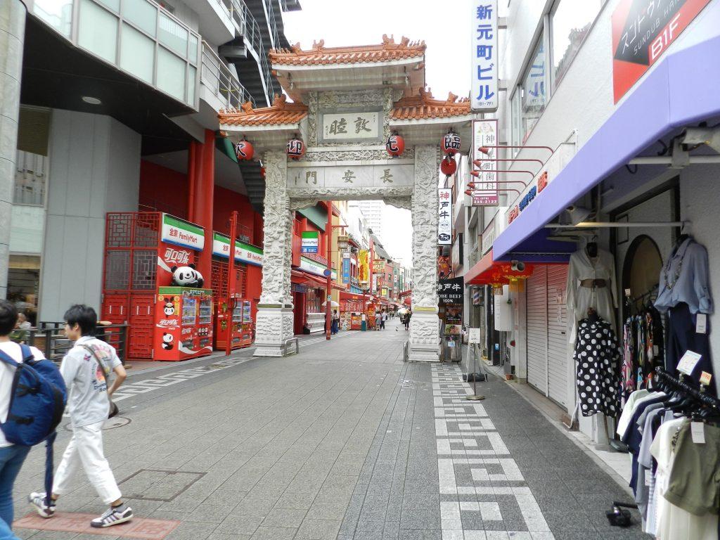中華街の入口の長安門