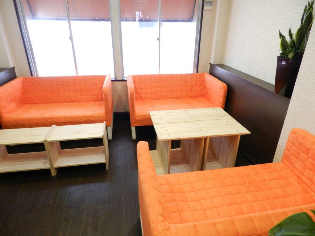 レンタルスペースのソファー